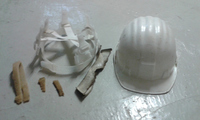 Clean parts of the helmet